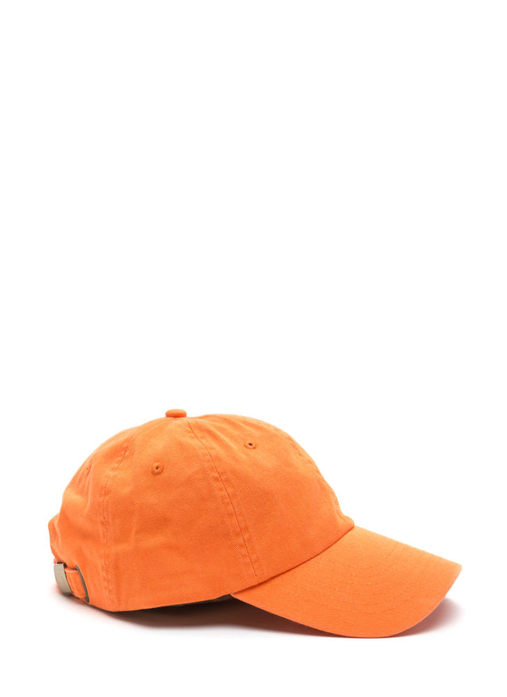 Sun Worshipper Solid Baseball Cap ORANGE