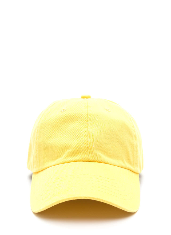 Sun Worshipper Solid Baseball Cap YELLOW