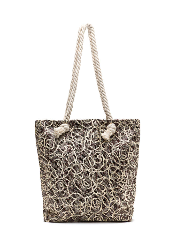 Life Of Luxury Brocade Tote Bag