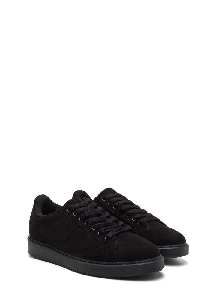 Street Style Elite Lace-Up Sneakers BLACK