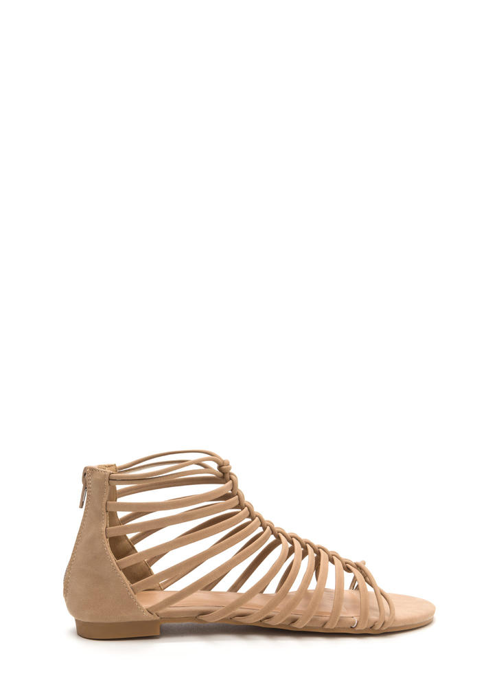 Ladder To The Top Faux Nubuck Sandals