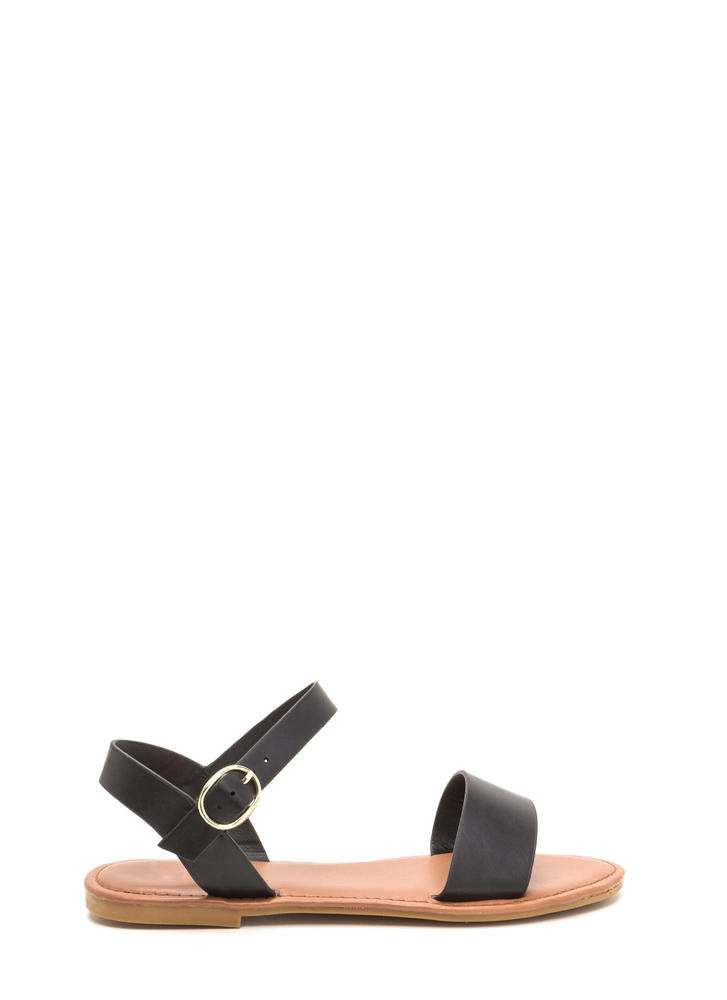 Chic About It Faux Leather Sandals