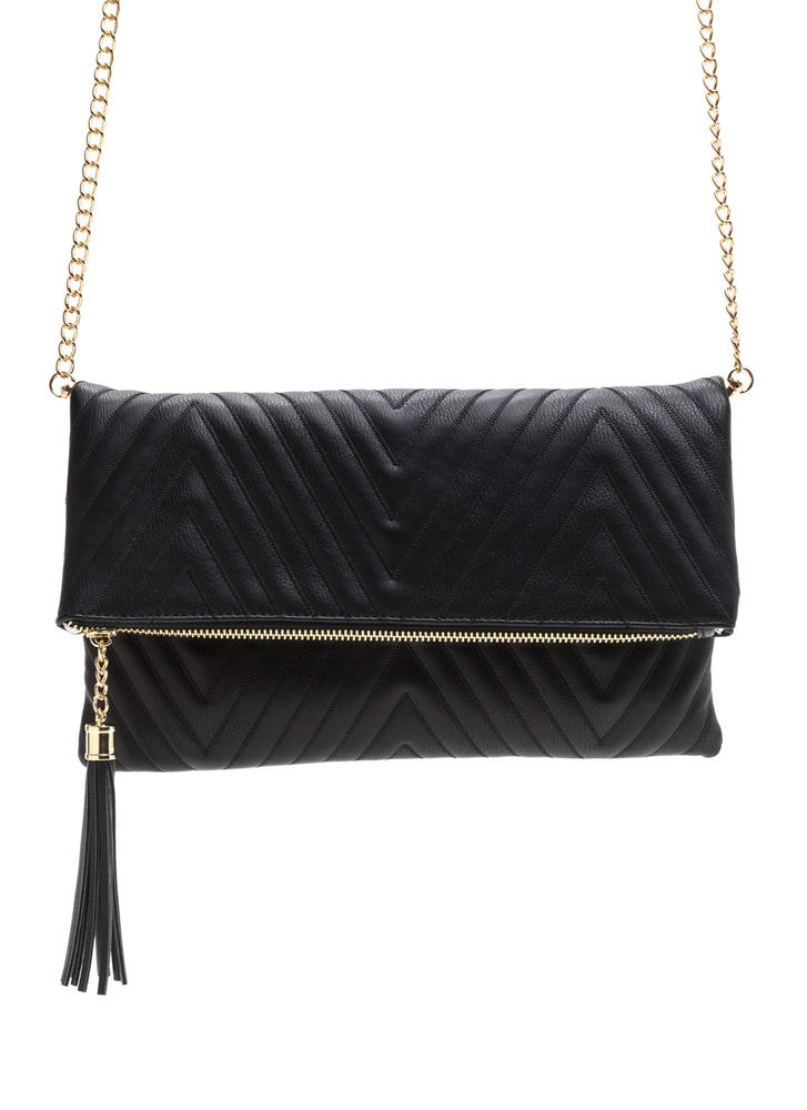 New Direction Zigzag Quilted Clutch