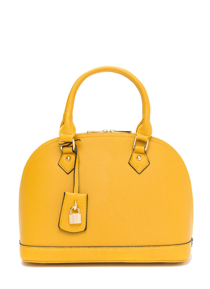 Hidden Talent Faux Leather Dome Satchel