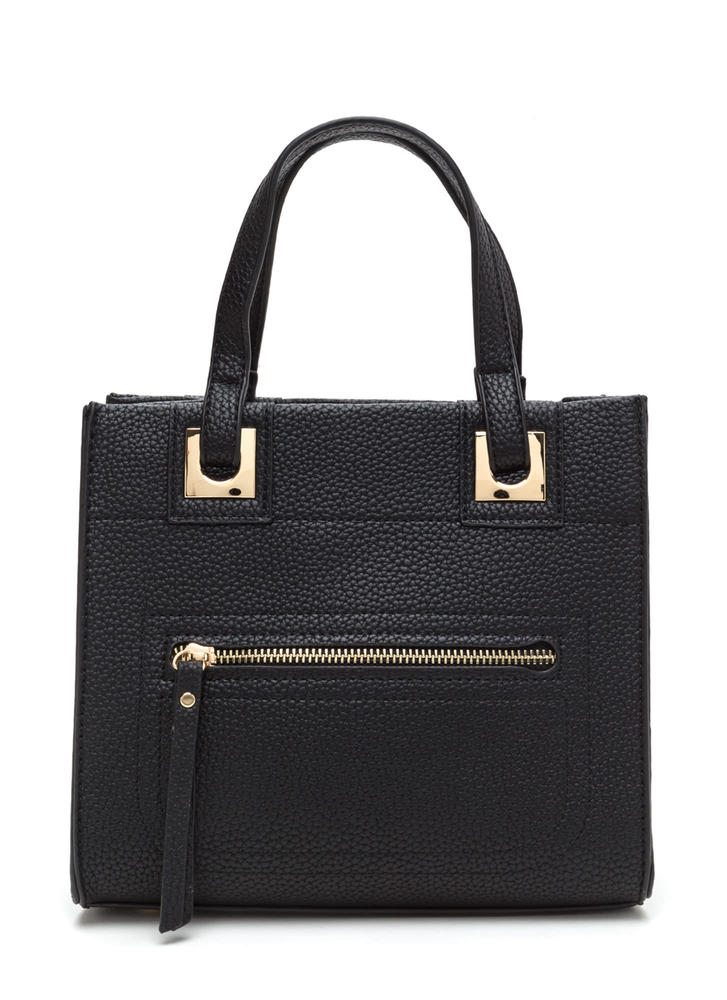 Work Wear Chic Faux Leather Tote Bag