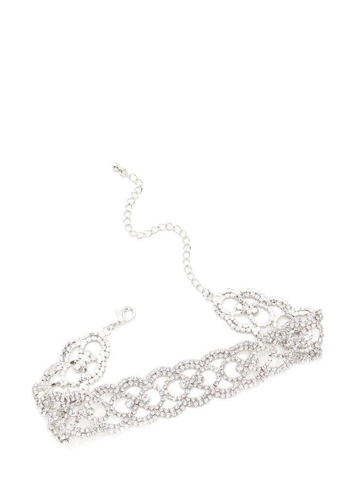 Dinner To Drinks Sparkly Cut-Out Choker