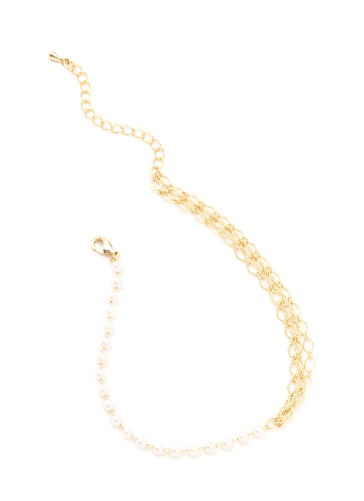 Do It Delicately Faux Pearl Anklet