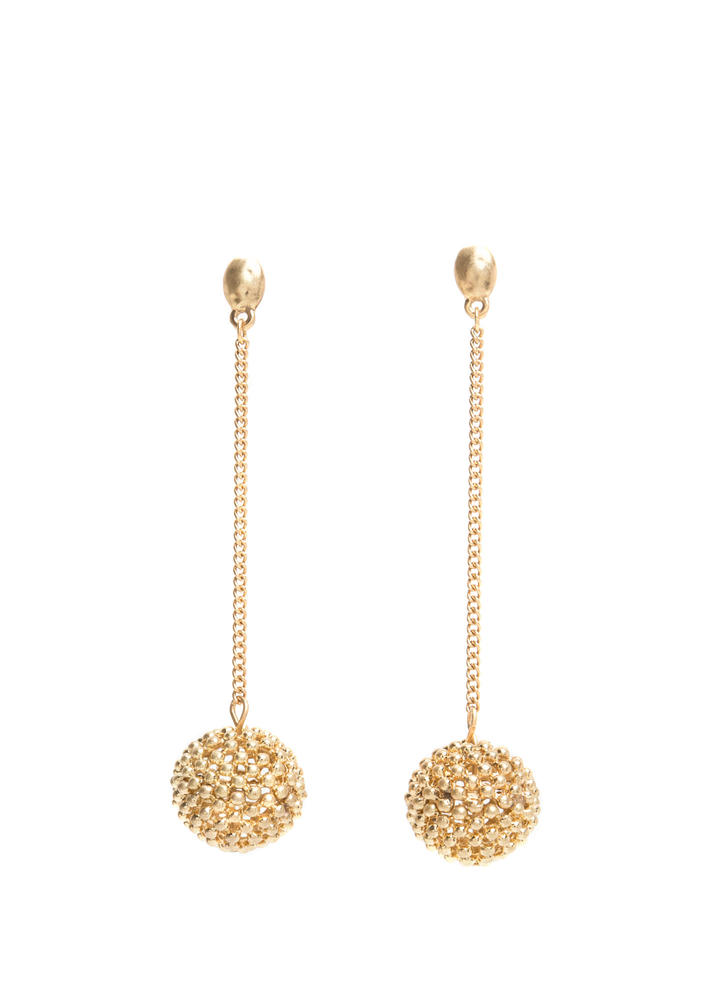 Belle Of The Ball Chain Earrings