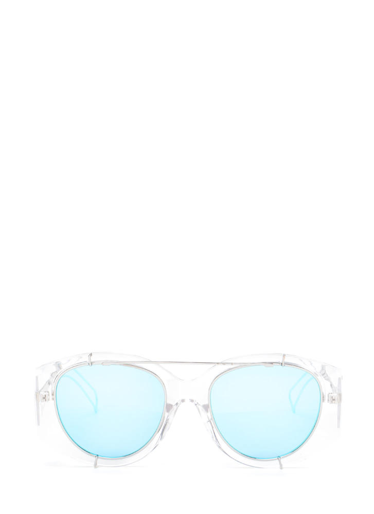 Miami Vibes Clear Mirrored Sunglasses