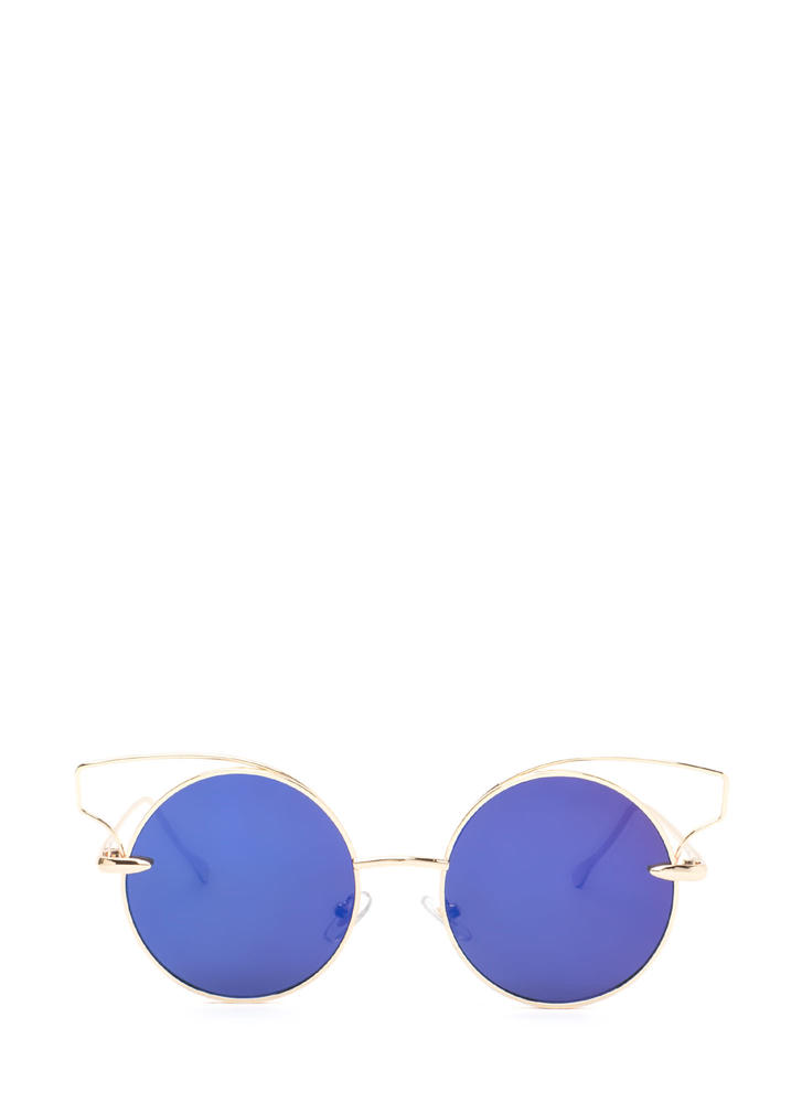 Round Of Silence Cut-Out Sunglasses ROYALGOLD