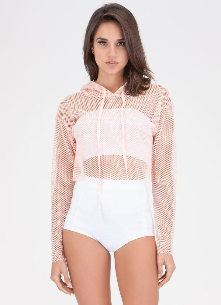 Net So Bad Hoodie Crop Top