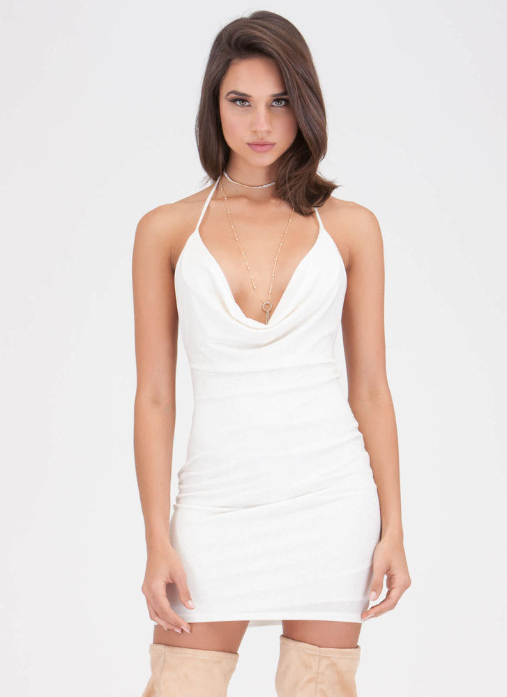 Sleek 'N Stunning Plunging Minidress