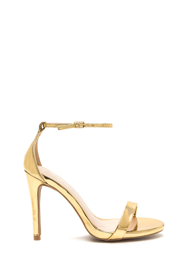 Gleaming Of You Strappy Metallic Heels