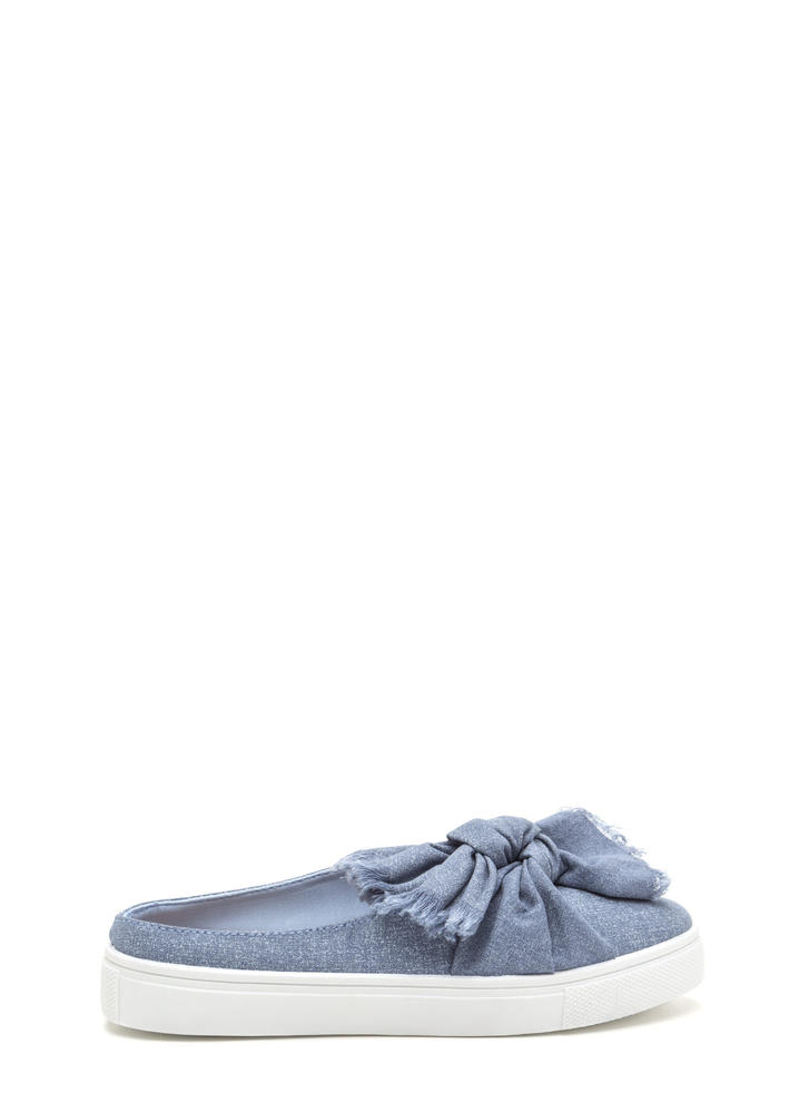 Tie It Together Denim Slide Flats