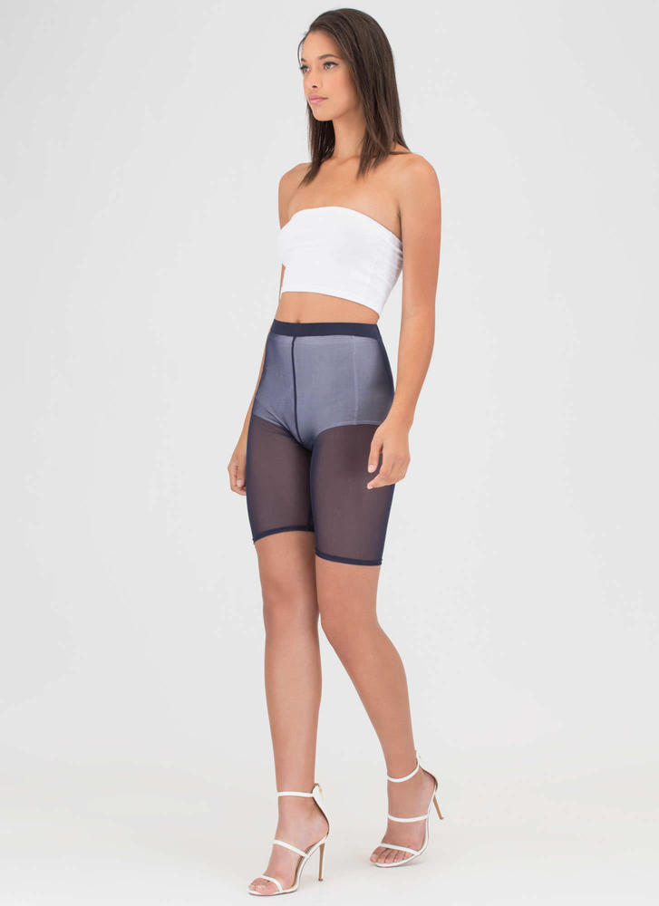 You Sheer Often Bermuda Shorts NAVY