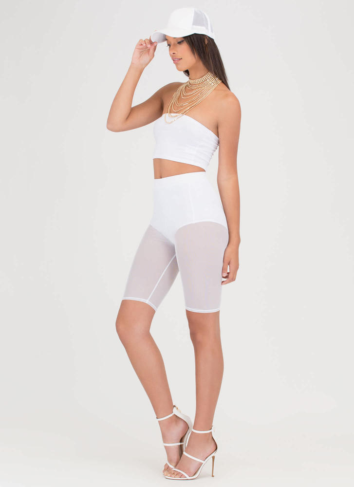 You Sheer Often Bermuda Shorts WHITE