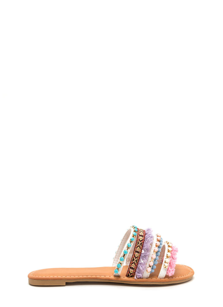 Boho Trip Embellished Slide Sandals