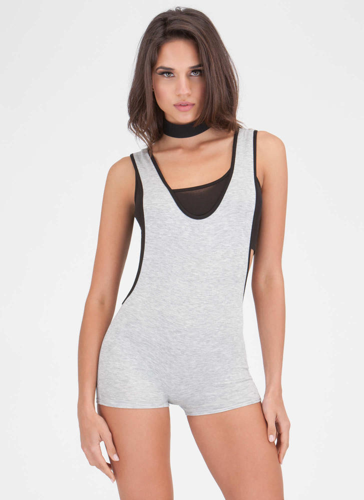 Score Sporty Luxe Layered Romper