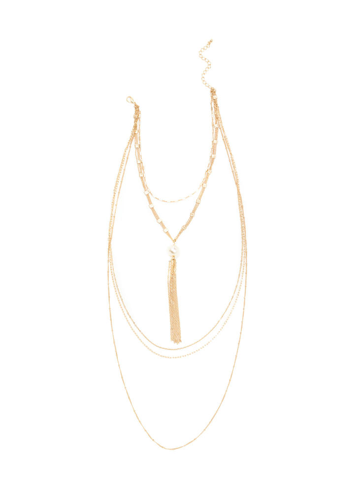 Luxe Amazing Layered Chain Necklace GOLD