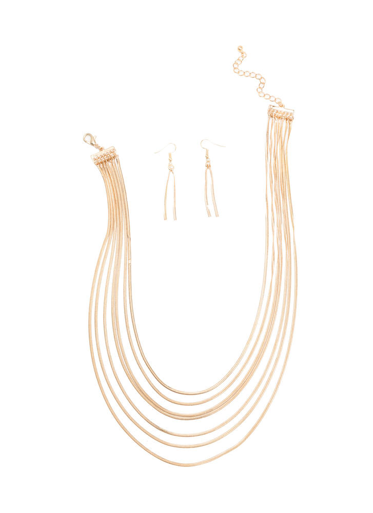 Here's A Glint Layered Necklace Set