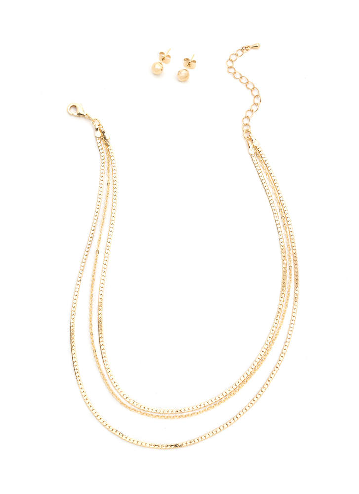 Infatuated Layered Chain Necklace Set