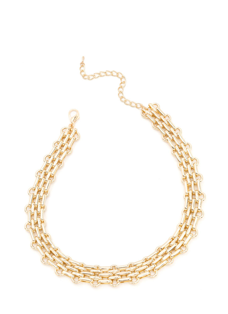 Design Achievement Chunky Chain Necklace GOLD