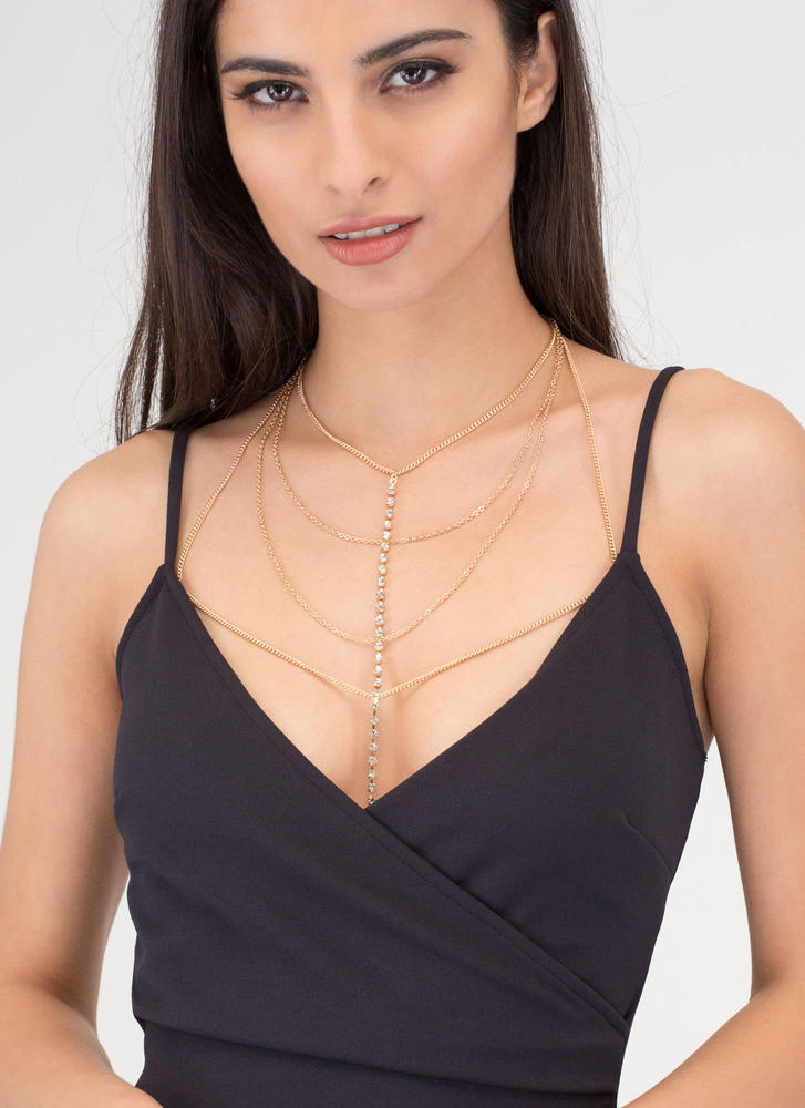 Glisten Up Jeweled Bralette Bodychain