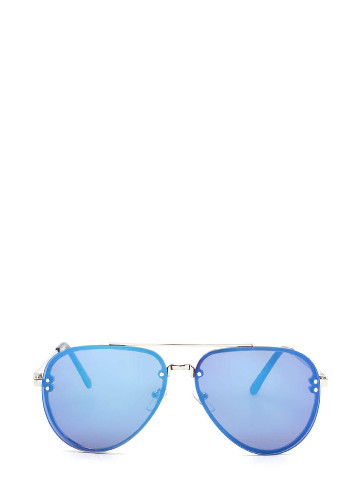 Aviator Sunglasses Blue 2017