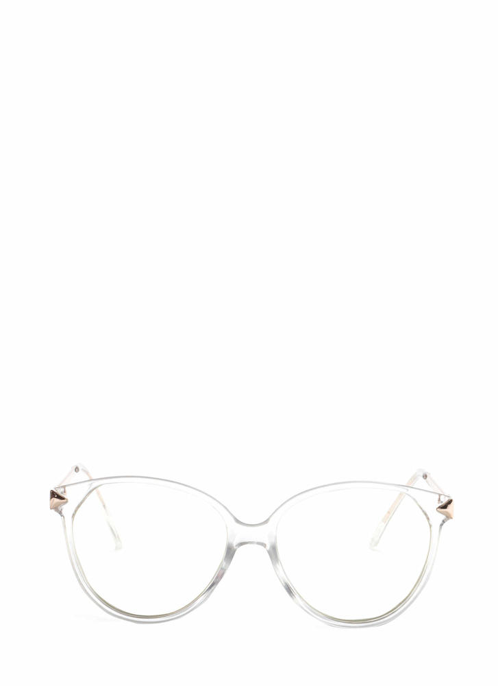 Clear To Me Metallic Glasses GOLD