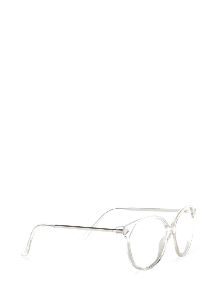 Clear To Me Metallic Glasses SILVER