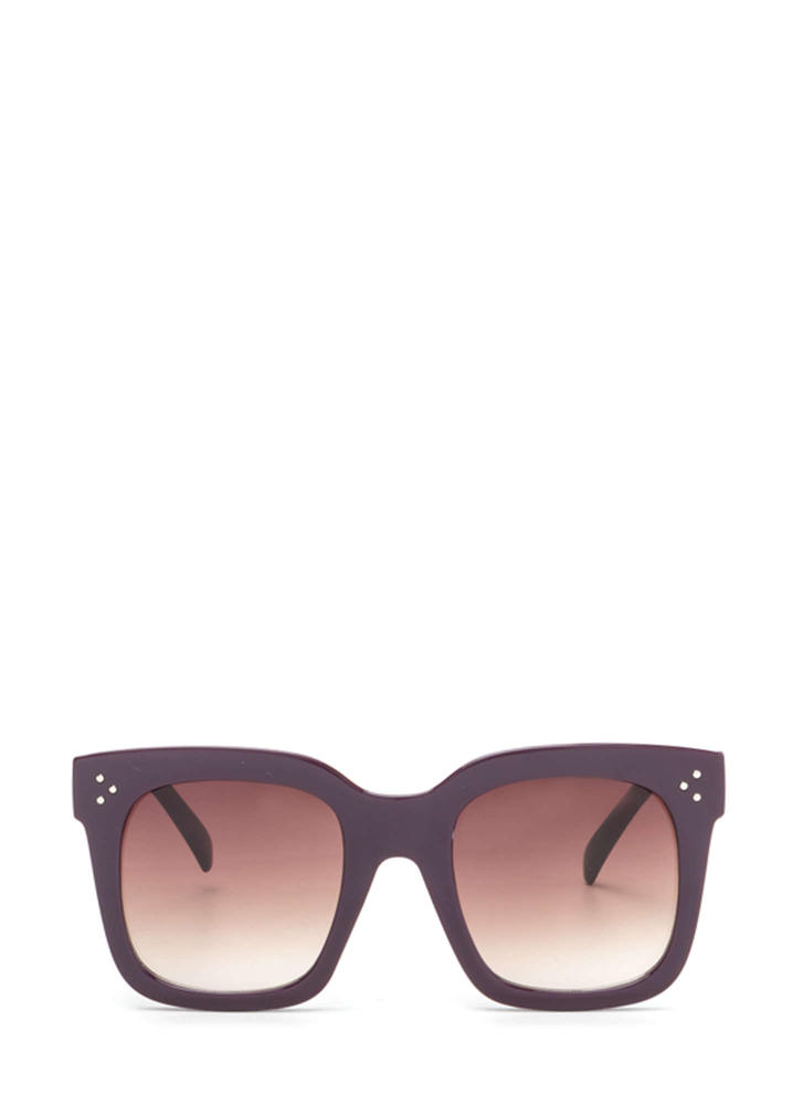 Square Away Thick Sunglasses PURPLE