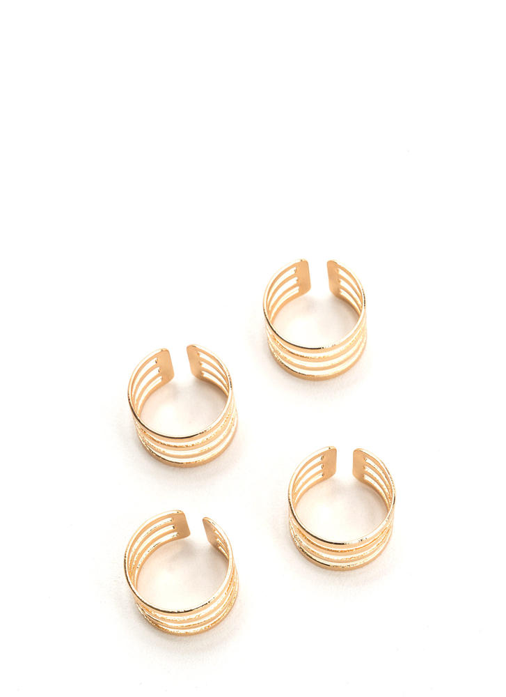 Make The Cut-Out Stacked Ring Set GOLD
