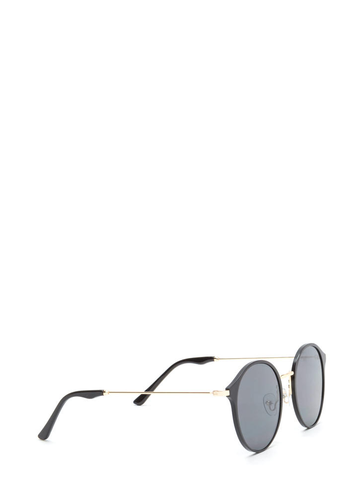 So Sleek 'N Chic Round Sunglasses BLACK