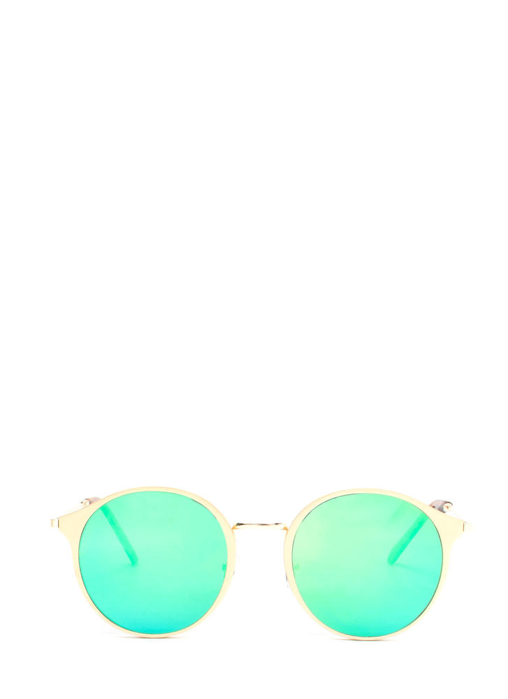 So Sleek 'N Chic Round Sunglasses BLUE