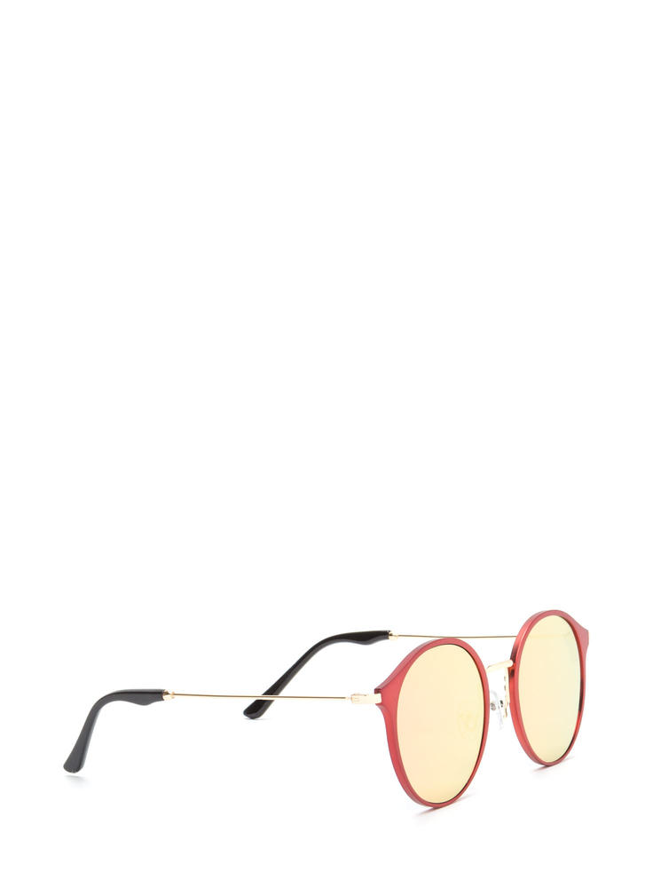 So Sleek 'N Chic Round Sunglasses RED