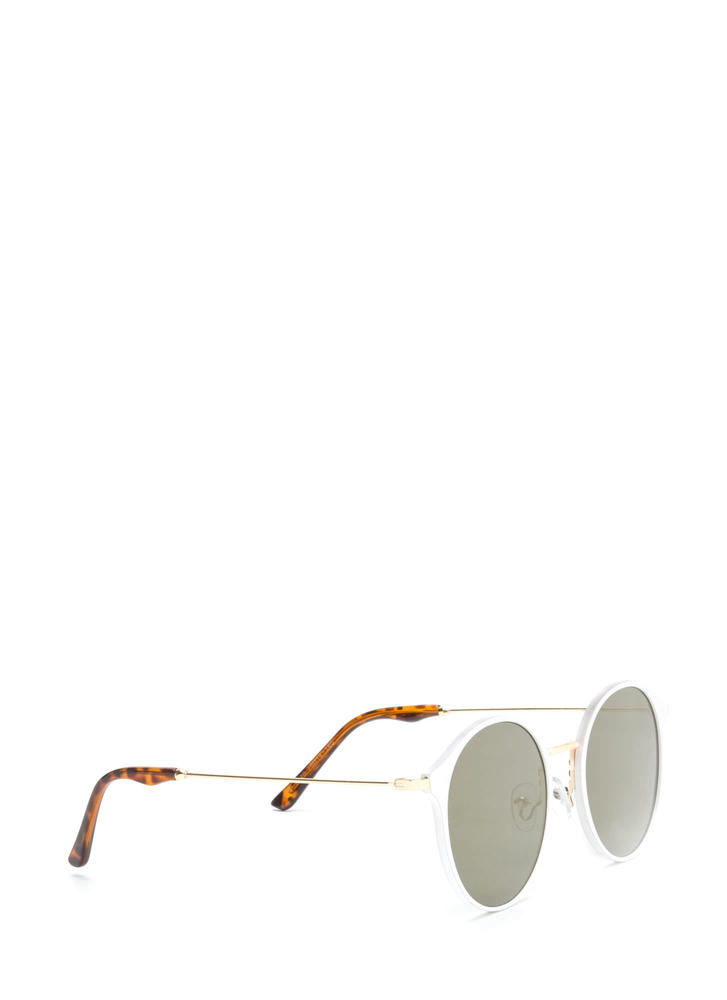 So Sleek 'N Chic Round Sunglasses WHITE