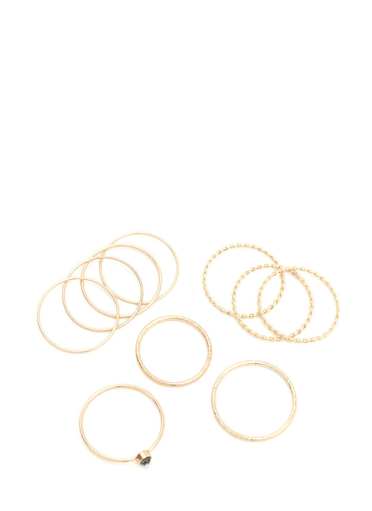 What's The Skinny Wire Ring Set GOLD