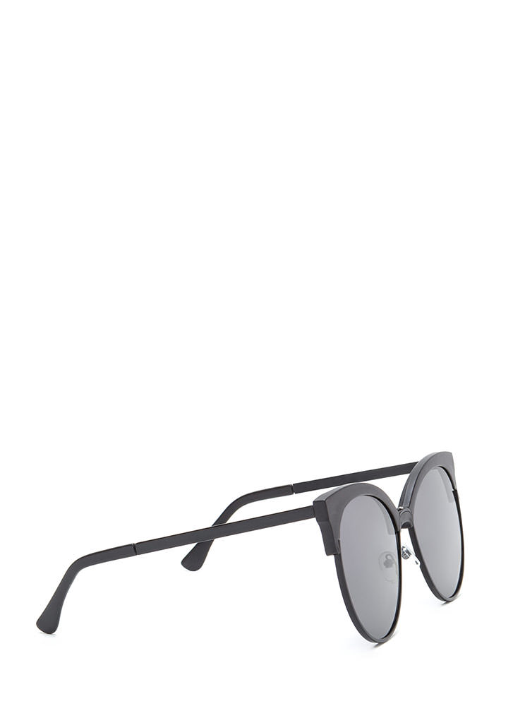 Poolside Paradise Brow Bar Sunglasses BLACK