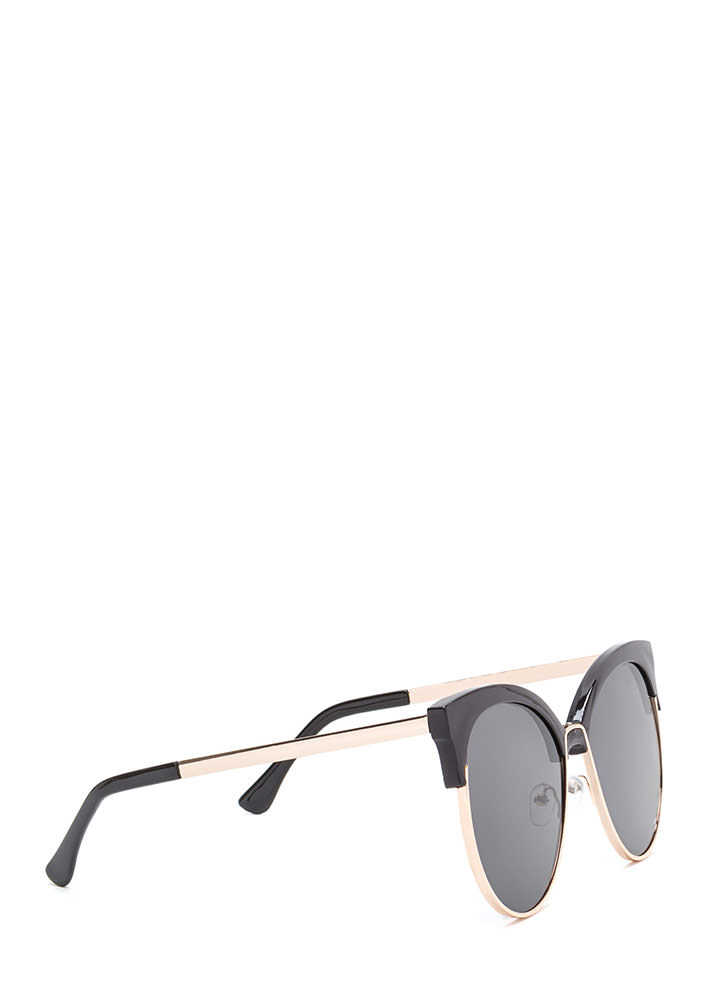 Poolside Paradise Brow Bar Sunglasses BLACKGOLD