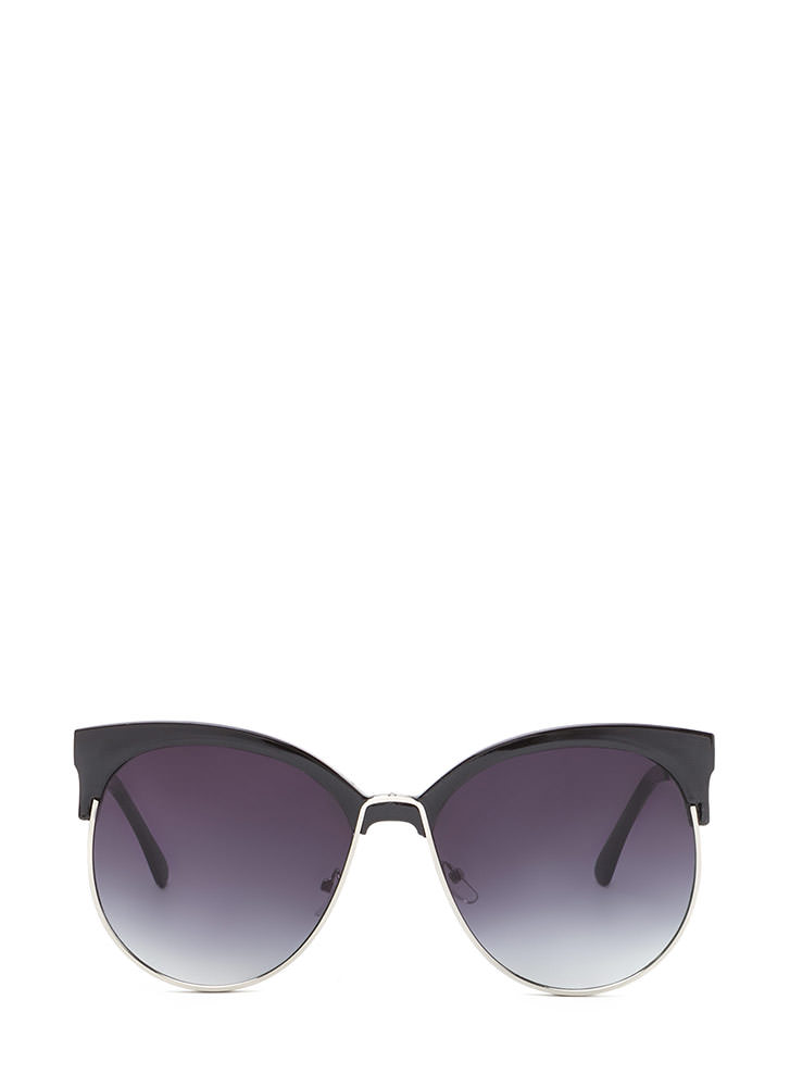 Poolside Paradise Brow Bar Sunglasses BLACKSILVER