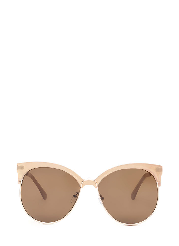 Poolside Paradise Brow Bar Sunglasses TAUPEGOLD