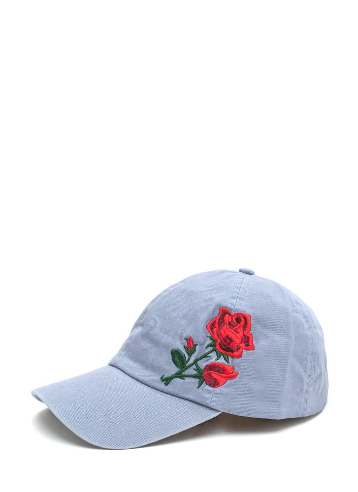 Coming Up Roses Embroidered Baseball Cap