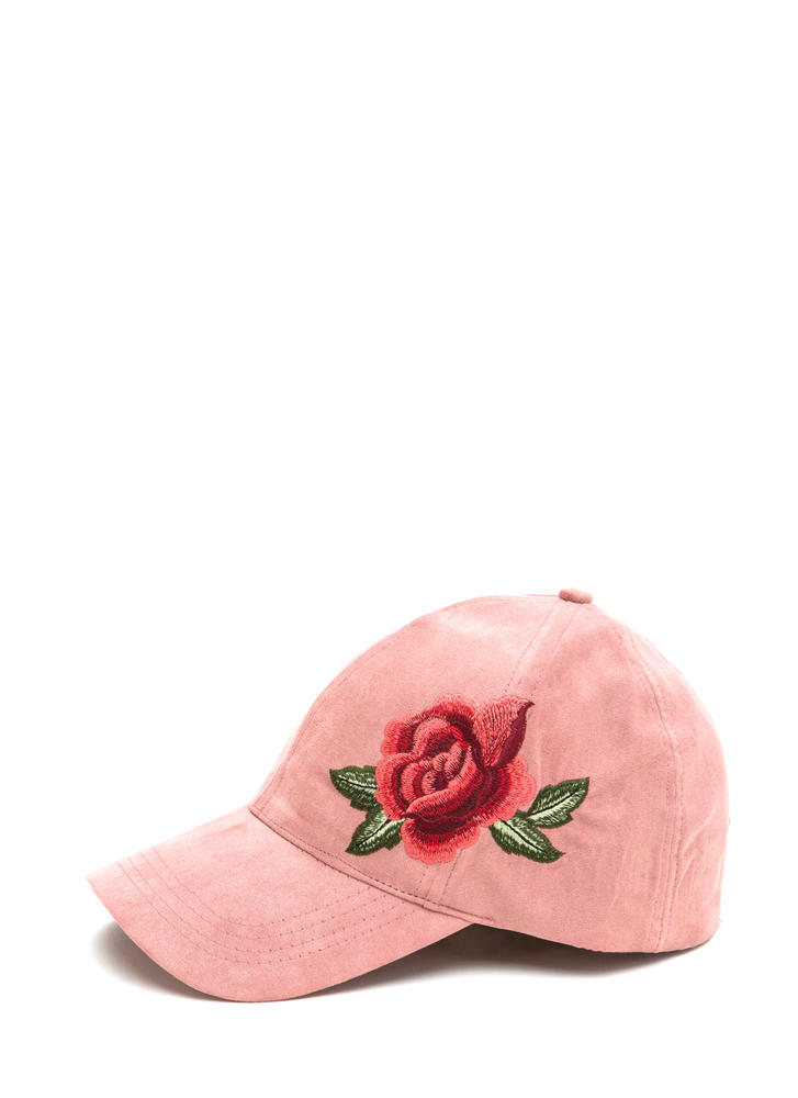 Bed Of Roses Faux Suede Baseball Cap