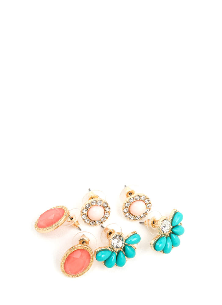 Updated Classics Sparkly Earring Set MULTI
