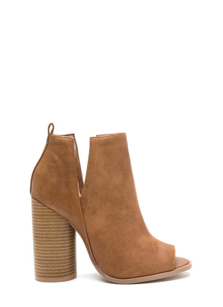 Wander This Way Chunky Slit Booties