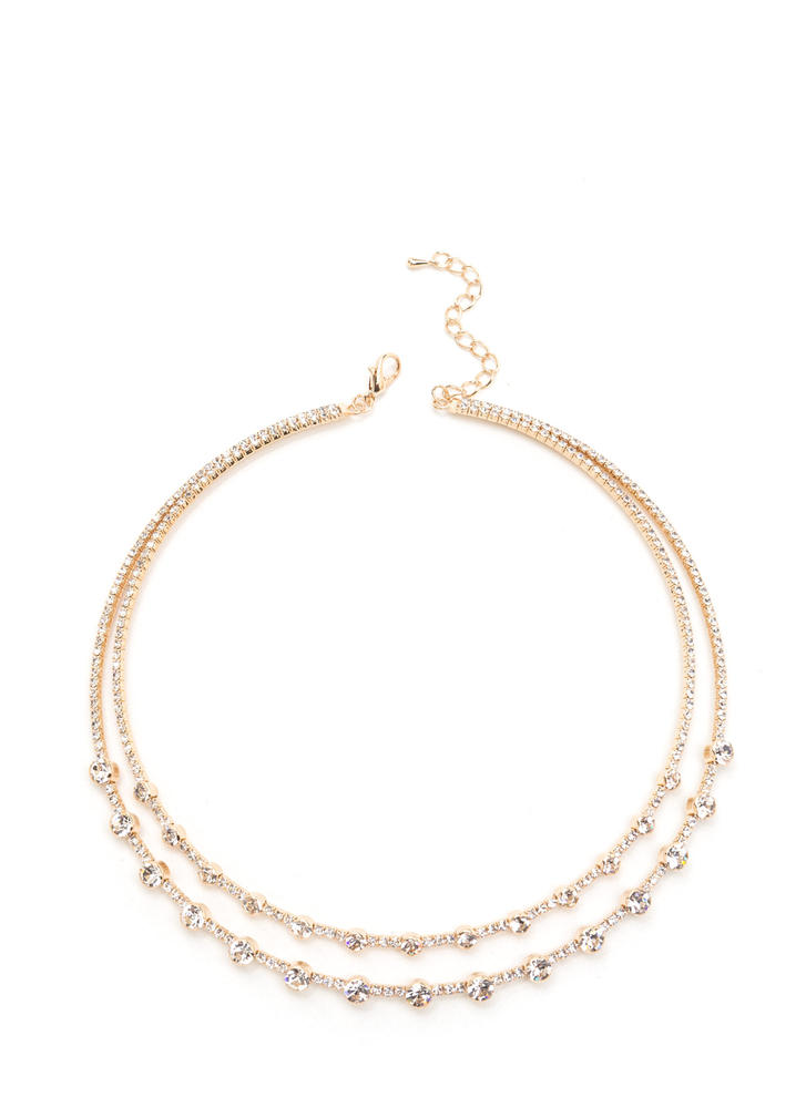 Glitzy Princess Faux Jewel Necklace
