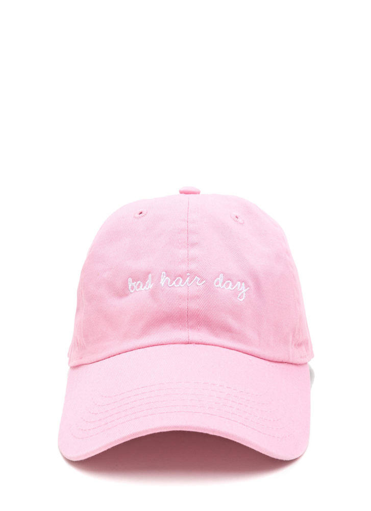 No More Bad Hair Day Canvas Cap