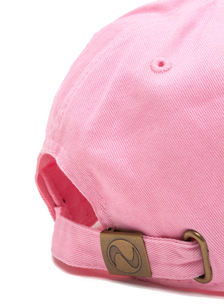No More Bad Hair Day Canvas Cap PINK