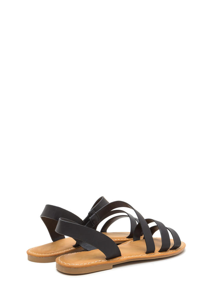 Picture Perfect Strappy Sandals BLACK