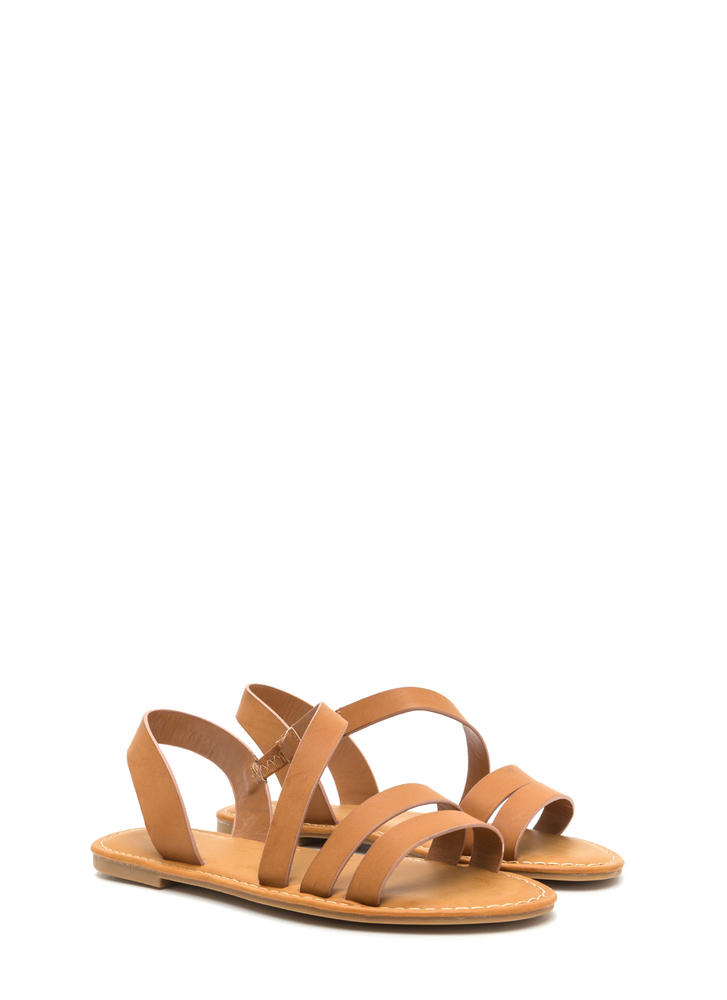 Picture Perfect Strappy Sandals TAN